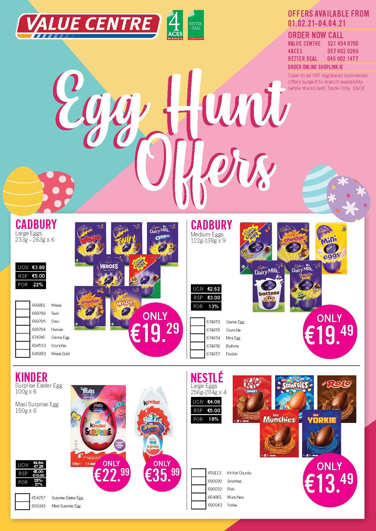 Easter Egg Offers